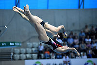 Italy's Maicol Verzotto and Elena Bertocchi compete in the mixed 3m synchro springboard <br /> <br /> Photographer Hannah Fountain/CameraSport<br /> <br /> FINA/CNSG Diving World Series 2019 - Day 3 - Sunday 19th May 2019 - London Aquatics Centre - Queen Elizabeth Olympic Park - London<br /> <br /> World Copyright © 2019 CameraSport. All rights reserved. 43 Linden Ave. Countesthorpe. Leicester. England. LE8 5PG - Tel: +44 (0) 116 277 4147 - admin@camerasport.com - www.camerasport.com
