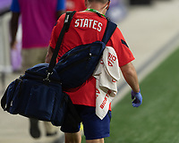ORLANDO CITY, FL - FEBRUARY 18: USWNT Staff takes the field during a game between Canada and USWNT at Exploria stadium on February 18, 2021 in Orlando City, Florida.