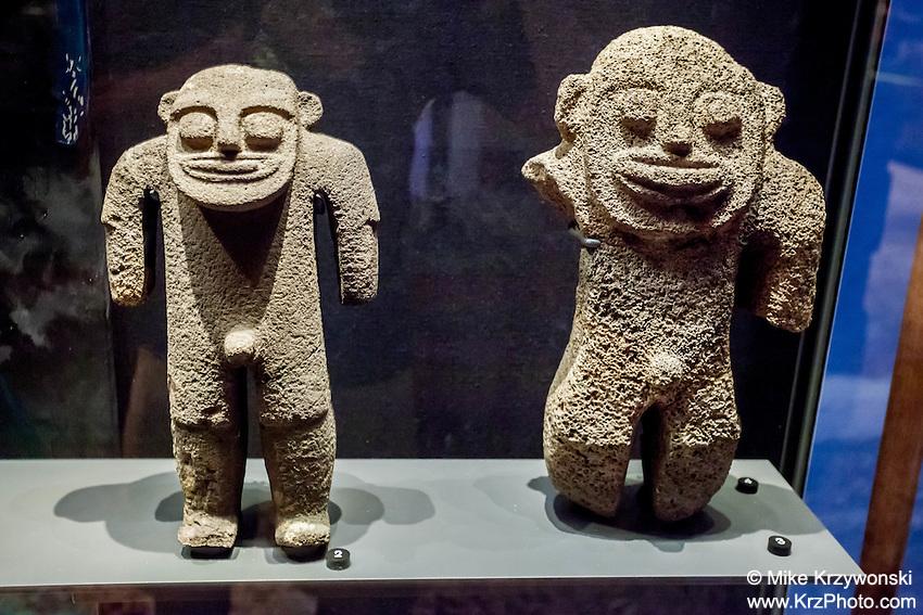 Necker Island carved stone images exhibit, Bishop Museum, Honolulu
