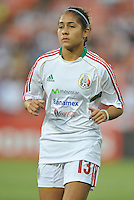 Arianne Romero (13) of Mexico during pre-game warmups. The USWNT defeated Mexico 7-0 during an international friendly, at RFK Stadium, Tuesday September 3 , 2013.