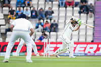 Tom Latham of New Zealand drives through the covers during India vs New Zealand, ICC World Test Championship Final Cricket at The Hampshire Bowl on 20th June 2021