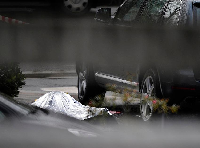 Azpeitia: A Basque bussiness man, Ignacio Uria Mendizabal, was shot and killed in Azpeitia, on December 03, 2008.  Photo: Ander Gillenea