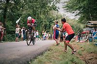 Bob Jungels (LUX/Quick-Step Floors)<br /> <br /> Stage 20 (ITT): Saint-Pée-sur-Nivelle >  Espelette (31km)<br /> <br /> 105th Tour de France 2018<br /> ©kramon