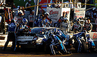 Nov 13, 2005; Phoenix, Ariz, USA;  Nascar Nextel Cup driver Ryan Newman driver of the #12 Alltel Dodge makes a pit stop during the Checker Auto Parts 500 at Phoenix International Raceway. Mandatory Credit: Photo By Mark J. Rebilas