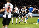 St Mirren v St Johnstone…26.12.18…   St Mirren Park    SPFL<br />Tony Watt heads in St Johnstone's goal<br />Picture by Graeme Hart. <br />Copyright Perthshire Picture Agency<br />Tel: 01738 623350  Mobile: 07990 594431