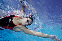 Norwegian national swimming team training in an outdoor  pool. Frognerbadet, Oslo, Norway..© Fredrik Naumann/Felix Features