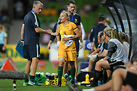 22 November 2017, Melbourne - TAMEKA BUTT (13) of Australia returns to the bench after scoring a goal during an international friendly match between the Australian Matildas and China PR at AAMI Stadium in Melbourne, Australia.. Australia won 5-1. Photo Sydney Low