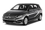 2016 Mercedes Benz B-Class Inspiration 5 Door Mini MPV Angular Front stock photos of front three quarter view