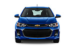 Car photography straight front view of a 2020 Chevrolet Sonic LT RS Select Doors Door Hatchback