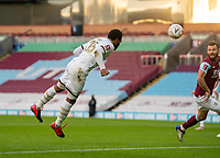 9th January 2021; Turf Moor, Burnley, Lanchashire, England; English FA Cup Football, Burnley versus Milton Keynes Dons; Cameron Jerome of MK Dons opens the scoring in the 29th minute with a diving header