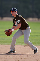 January 17, 2010:  Zach English (Greeley, CO) of the Baseball Factory Mountain Team during the 2010 Under Armour Pre-Season All-America Tournament at Kino Sports Complex in Tucson, AZ.  Photo By Mike Janes/Four Seam Images