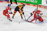 Eishockey: Deutschland – Tschechien am 01.05.2021 in der ARENA Nürnberger Versicherung in Nürnberg<br /> <br /> Deutschlands Daniel Fischbuch (Nr.77) scheitert frei vor Tschechiens Torhüter Roman Will (Nr.35)<br /> <br /> Foto © Duckwitz/osnapix/PIX-Sportfotos *** Foto ist honorarpflichtig! *** Auf Anfrage in hoeherer Qualitaet/Aufloesung. Belegexemplar erbeten. Veroeffentlichung ausschliesslich fuer journalistisch-publizistische Zwecke. For editorial use only.