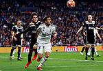 Real Madrid CF's Sergio Reguilon and AFC Ajax's Nicolas Tagliafico during UEFA Champions League match, Round of 16, 2nd leg between Real Madrid and AFC Ajax at Santiago Bernabeu Stadium in Madrid, Spain. March 05, 2019.(ALTERPHOTOS/Manu R.B.)