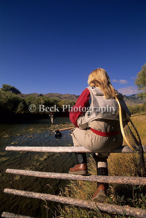 An angler watches from a distance on the Ruby River, Montana.