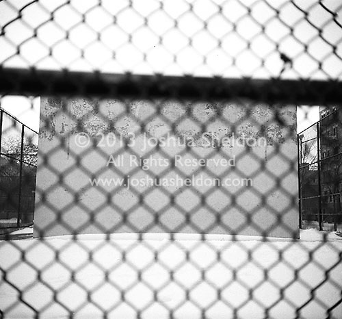Hand ball court behind fence<br />