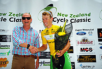 Tour leader Nick Reddish (Oliver's Real Food Racing). Stage One of the 2018 NZ Cycle Classic UCI Oceania Tour in Wairarapa, New Zealand on Wednesday, 17 January 2018. Photo: Dave Lintott / lintottphoto.co.nz