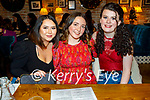 Sinead Scanlon, Clodagh O'Loughlan and Aine O'Sullivan enjoying the evening in the Ashe Hotel on Friday.