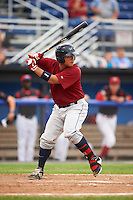 Mahoning Valley Scrappers catcher Li-Jen Chu (16) at bat during a game against the Batavia Muckdogs on June 22, 2015 at Dwyer Stadium in Batavia, New York.  Mahoning Valley defeated Batavia 15-11.  (Mike Janes/Four Seam Images)