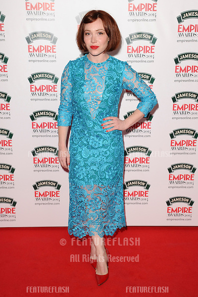 Daisy Lewis<br /> arives for the Empire Magazine Film Awards 2014 at the Grosvenor House Hotel, London. 30/03/2014 Picture by: Steve Vas / Featureflash