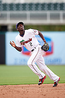 Fort Myers Miracle shortstop Nick Gordon (2) during a game against the St. Lucie Mets on August 9, 2016 at Hammond Stadium in Fort Myers, Florida.  St. Lucie defeated Fort Myers 1-0.  (Mike Janes/Four Seam Images)