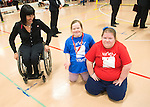 FEBRUARY 26, 2016, TORONTO, ON; Team Canada Chef de Mission for the 2016 Paralympic Team, Chantal Petitclerc vists Variety Village to support the Lieutenant  Govenor's Games. Photo: Dan Galbraith / Canadian Paralympic Committee
