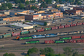 Downtown Glendive and railroad yard