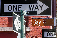 """NEW YORK, NEW YORK - MARCH 15: The Gay Street placard is pictured on March 15, 2021 in New York. With a """"Responsum ad dubium"""" the Catholic Church says that it does not bless same-Sex marriage.  (Photo by Emaz/VIEWpress)"""