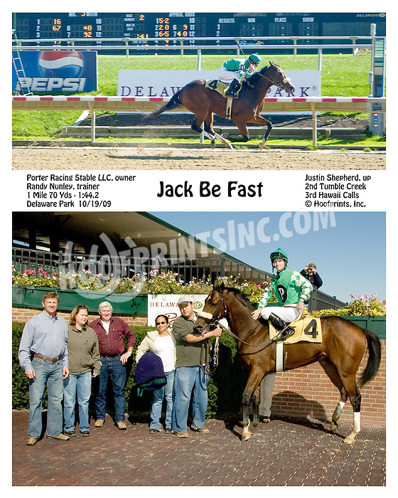 Jack be Fast winning at Delaware Park on 10/19/09