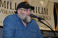 Race Marshal Mark Nordman announces the winner of the Golden Clipboard award to the village of Huslia at the finishers banquet in Nome on Sunday  March 22, 2015 during Iditarod 2015.  <br /> <br /> (C) Jeff Schultz/SchultzPhoto.com - ALL RIGHTS RESERVED<br />  DUPLICATION  PROHIBITED  WITHOUT  PERMISSION