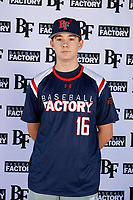 Jason Savacool (16) of C.W. Baker High School in Baldwinsville, New York during the Baseball Factory All-America Pre-Season Tournament, powered by Under Armour, on January 12, 2018 at Sloan Park Complex in Mesa, Arizona.  (Mike Janes/Four Seam Images)