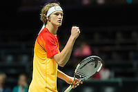 Rotterdam, The Netherlands, Februari 10, 2016,  ABNAMROWTT, Alexander Zverev (GER)<br /> Photo: Tennisimages/Henk Koster