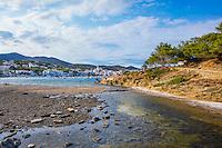 Spain, Costa Brava, Catalonia, Cadques coastline.