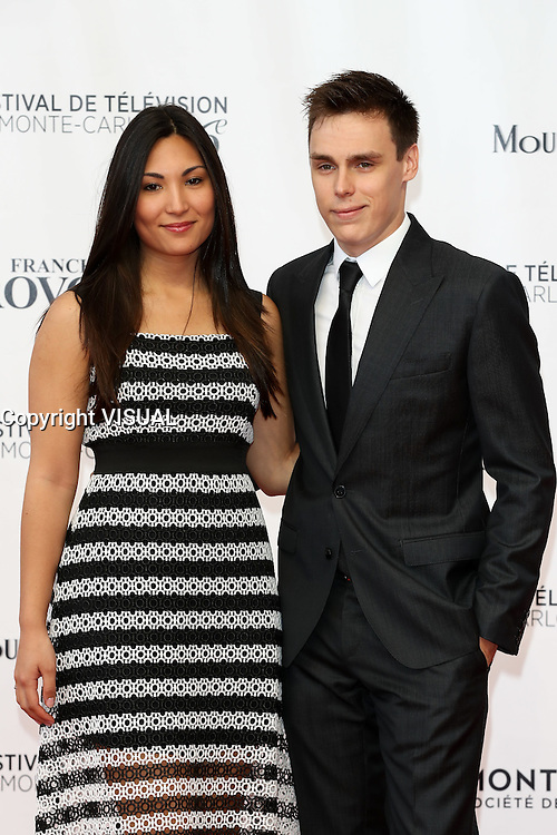 56th Monte-Carlo Television Festival opening red carpet. Louis Ducruet and girlfriend Marie.