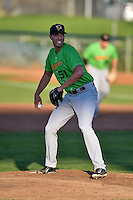 Great Falls Voyagers starting pitcher Alec Hansen (51) delivers a pitch to the plate against the Ogden Raptors in Pioneer League action at Lindquist Field on August 16, 2016 in Ogden, Utah. Ogden defeated Great Falls 2-1. (Stephen Smith/Four Seam Images)
