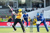D'Arcy Short, Trent Rockets pulls into the on side for runs during London Spirit Men vs Trent Rockets Men, The Hundred Cricket at Lord's Cricket Ground on 29th July 2021