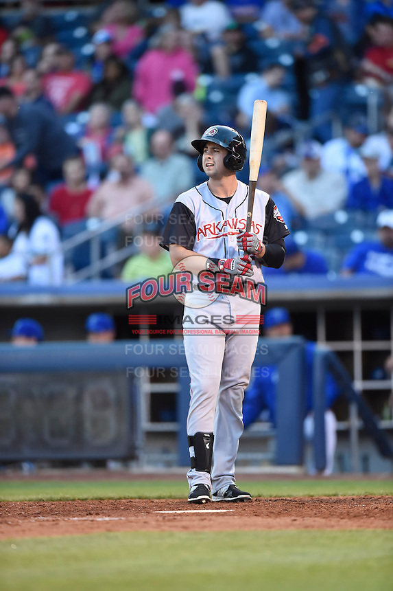 ***Temporary Unedited Reference File***Arkansas Travelers designated hitter Eric Aguilera (24) during a game against the Tulsa Drillers on April 28, 2016 at ONEOK Field in Tulsa, Oklahoma.  Tulsa defeated Arkansas 5-4.  (Mike Janes/Four Seam Images)