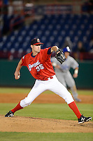 Brevard County Manatees pitcher Kevin Shackelford #35 during a game against the Daytona Cubs at Spacecoast Stadium on April 5, 2013 in Viera, Florida.  Daytona defeated Brevard County 8-0.  (Mike Janes/Four Seam Images)