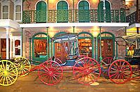 Antique carriages display Museum of Commerce Historic Pensacola Village Pensacola Florida