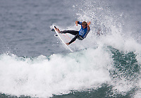 Huntington Beach, CA - Saturday August 05, 2017: Josh Kerr during a World Surf League (WSL) Qualifying Series (QS) fifth round heat in the 2017 Vans US Open of Surfing on the South side of the Huntington Beach pier.