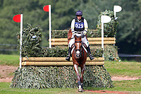 Sam Griffiths riding Gurtera Cher jumps free of the Dewpond, 4th September 2021; Bicton Park, East Budleigh Salterton, Budleigh Salterton, United Kingdom: Bicton CCI 5* Equestrian Event;
