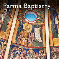 Pictures of the Romanesque Parma Baptistry - Italy -