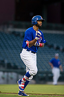 AZL Cubs right fielder Jonathan Sierra (22) draws a walk during a game against the AZL Brewers on August 6, 2017 at Sloan Park in Mesa, Arizona. AZL Cubs defeated the AZL Brewers 8-7. (Zachary Lucy/Four Seam Images)