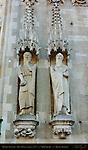 Gothic Statuary, Biblical Figures, Town Hall Stadhuis 1376, Burg Square, Bruges, Brugge, Belgium