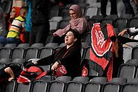 19th March 2021; Bankwest Stadium, Parramatta, New South Wales, Australia; A League Football, Western Sydney Wanderers versus Perth Glory; Western Sydney fans celebrate their team taking a 3-0 lead