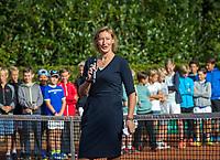 Hilversum, Netherlands, August 7, 2017, National Junior Championships, NJK, Opening by Marjolein Notten<br /> Photo: Tennisimages/Henk Koster