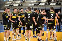 24-04-2021: Volleybal: Amysoft Lycurgus v Draisma Dynamo: Groningen Dynamo viert de 3-1 zege