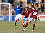 Arbroath v St Johnstone…21.07.21  Gayfield Park<br />Reece Devine and Dylan Patterson<br />Picture by Graeme Hart.<br />Copyright Perthshire Picture Agency<br />Tel: 01738 623350  Mobile: 07990 594431