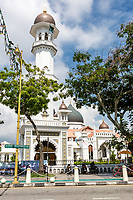 George Town, Penang, Malaysia.  Minaret of the Kapitan Keling  Mosque.