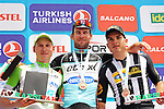 Mark Cavendish (GBR) Etixx-Quick Step wins Stage 7 of the 2015 Presidential Tour of Turkey running 166km from Selcuk to Izmir, with Andrea Piechele (ITA) Bardiani CSF in 2nd place and Kristian Sbaragli (ITA) MTN-Qhubeka in 3rd. 2nd May 2015.<br /> Photo: Tour of Turkey/Brian Hodes/www.newsfile.ie