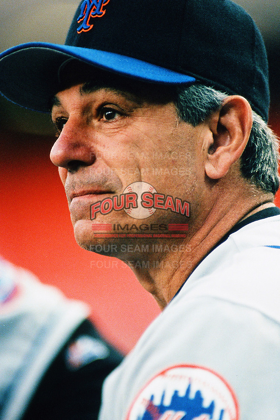 New York Mets Manager Bobby Valentine during a game against the Los Angeles Dodgers at Dodger Stadium circa 1999 in Los Angeles, California. (Larry Goren/Four Seam Images)